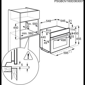 AEG Dampfbackofen  Kompakt KSK782220M