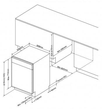amica geschirrsp ler 60cm vollintegrierbar egsp14569v. Black Bedroom Furniture Sets. Home Design Ideas