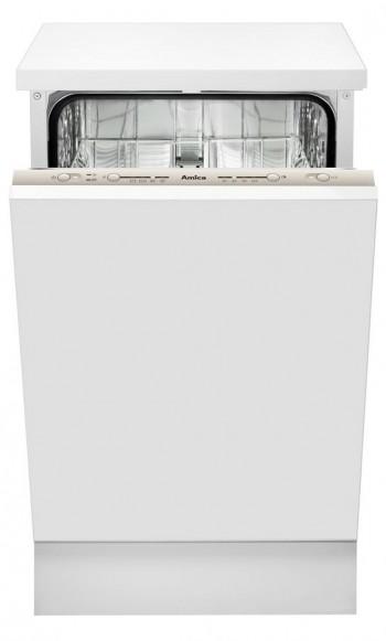 Amica Einbau-Geschirrspüler, vollintegriert, 45 cm, silber, 9 Maßgedecke, 4 Spülprogramme, 3 Temperaturen, Energieeffizienzklasse A+ EGSP 14768 V