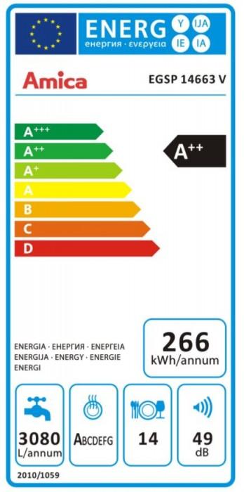 Amica Geschirrspüler EGSP 14663 V