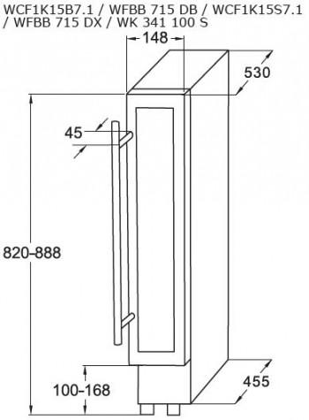 Amica Stand-Weintemperierschrank, unterbaufähig WK 341 100 S