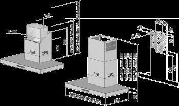 Berbel Wandhaube Blockline BWH 80 BL 80 cm 1003292 inkl. 5 Jahre Garantie