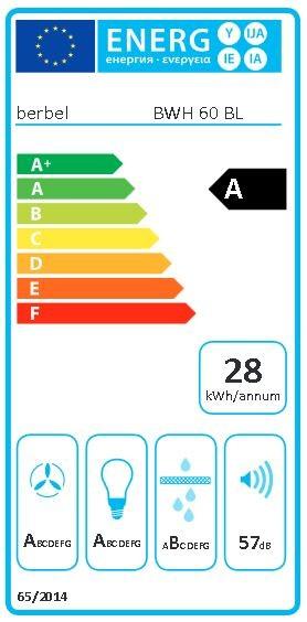 Berbel Wandhaube Blockline BWH 60 BL 60 cm 1003294 inkl. 5 Jahre Garantie