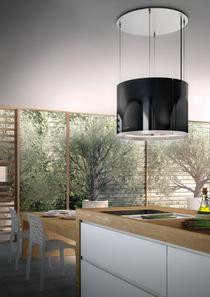 Berbel Deckenlifthaube Skyline Round BDL 60 SKR Glas schwarz 60 cm mit Liftfunktion 1005502 5 Jahre Garantie