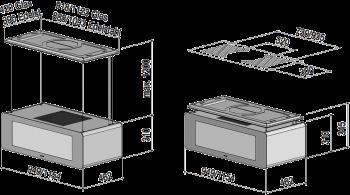Berbel Deckenlifthaube Skyline BDL 115 SK weiss 115 cm 1050007 5 Jahre Garantie