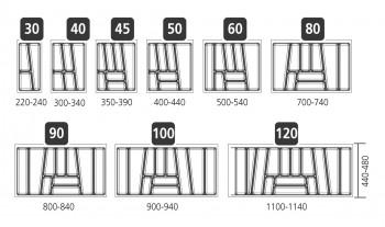 besteckeinsatz trend f r 40cm schublade kunststoff 300 340cm. Black Bedroom Furniture Sets. Home Design Ideas