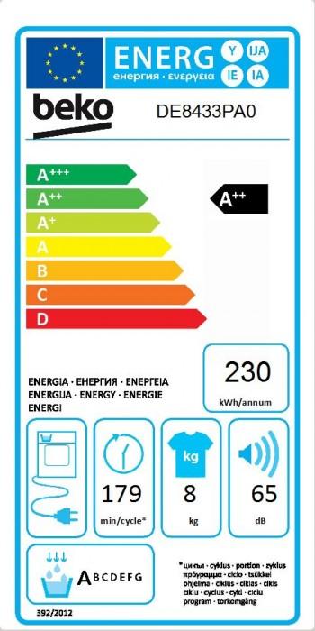 Beko Kondenstrockner mit Wärmepumpentechnologie DE8433PA0