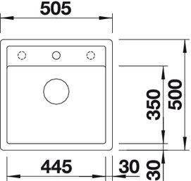 Blanco BLANCODALAGO 5-F   518849 Felsgrau