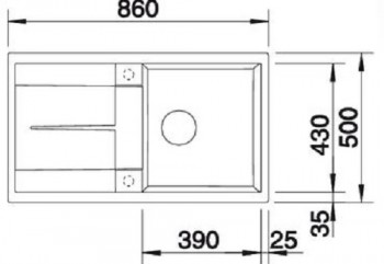 Blanco Metra 5 Silgranit Einbauspüle perlgrau 520571