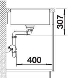 Blanco Granitspüle aus SILGRANIT® PuraDur®  AXIA III XL 6 S-F reversibel anthrazit 523526