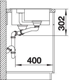 Blanco Granitspüle aus SILGRANIT® PuraDur® COLLECTIS 6 S Becken rechts anthrazit 523344
