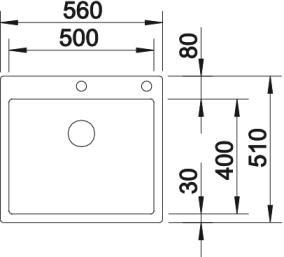 Blanco Spüle CLARON 500-IF/A Edelstahl 521633