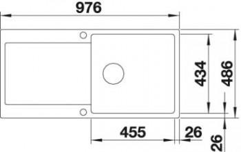 Blanco Spüle IDENTO XL 6 S-F Keramik PuraPlus® reversibel basalt 522282