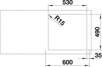 Blanco Spüle SUPRA 500-IF/A Edelstahl Bürstfinish 523362