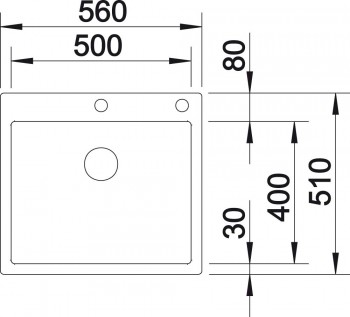 Blanco Spüle CLARON 500-IF/A Edelstahl Durinox® 523393