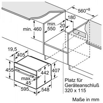 Bosch Kompaktbackofen mit Mikrowelle 45cm Edelstahl CMG636BS1