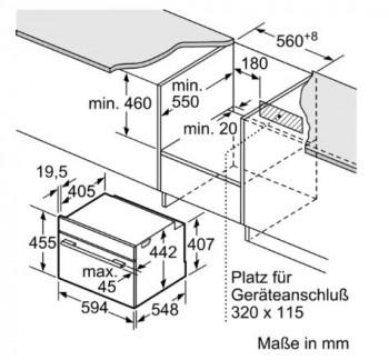Bosch Einbau Backofen mit Dampffunktion Edelstahl CSG636BS4