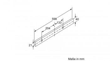 Bosch Flachschirmhaube 60cm Silbermetallic DFL063W56