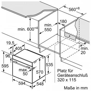 Bosch Einbau-Backofen Schwarz HBA334YB0