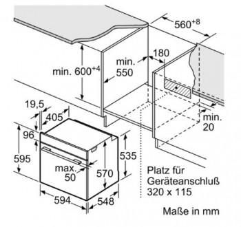 Bosch Einbau Backofen Edelstahl HBA530BR1
