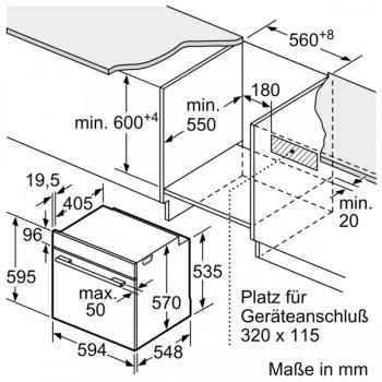 Bosch Einbau Backofen Edelstahl HBA533BS1