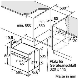 Bosch Backofen Edelstahl HBG676ES6