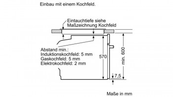 Bosch Einbau-Backofen HRG5785S6