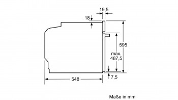 Bosch Backofen mit Dampfunterstützung HRG636XS7