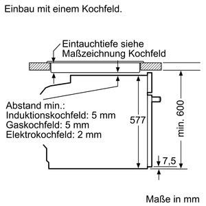 Bosch Backofen mit Dampfunterstützung Edelstahl HRG6769S6