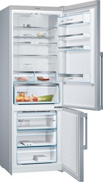 Bosch Freistehende Kühl-Gefrier-Kombination mit Gefrierbereich unten, KGE49VW4P