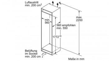 Bosch Einbau-Kühl/Gefrier-Kombination KIN86AFF0