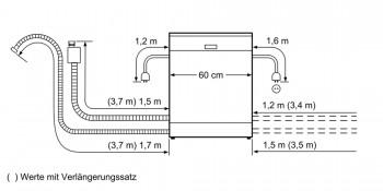 Bosch EXCLUSIV Geschirrspüler Teilintegriert Edelstahl SMI46US00D