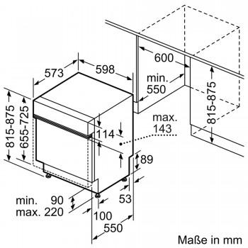 Bosch Geschirrspüler teilintegriert Edelstahl SMI88US36E
