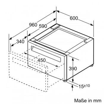 Bosch Universalpodest mit Aufbewahrungsschublade für Trockner WTZPW20D