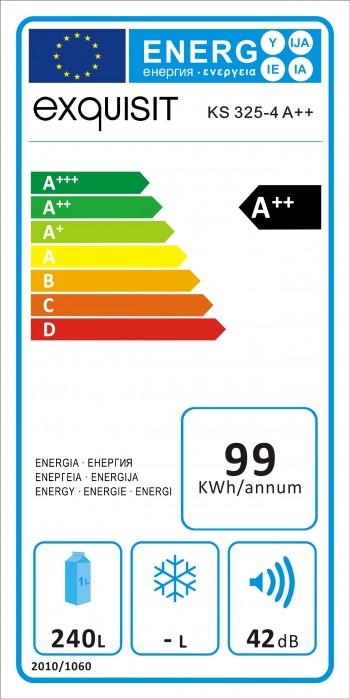 Exquisit Vollraum Kühlschrank KS 325-4 A++
