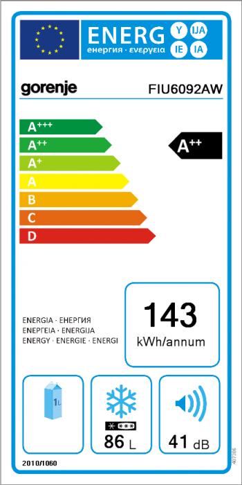 B-Ware Gorenje Unterbau-Gefrierschrank FIU6092AW
