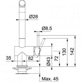 Franke Armatur Active Plus Auszugsbrause Matte Black HD 115.0524.890 (11995)