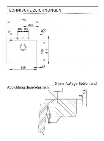 Franke Spüle Maris MRG 210-58 Fragranit+ Graphit 135.0477.337
