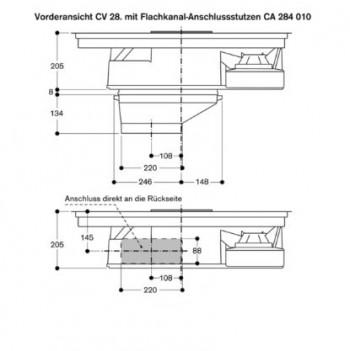 gaggenau flex induktionskochfeld mit integriertem. Black Bedroom Furniture Sets. Home Design Ideas
