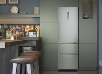 Haier Kühl-/Gefrier-Kombination 3 Türen HTR5619ENMG