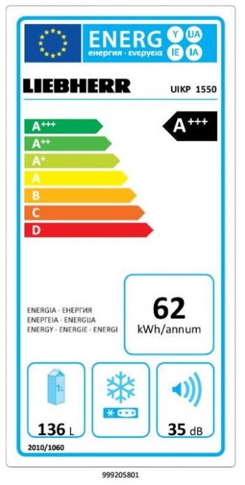 Liebherr Unterbau Kühlschrank Premium UIKP 1550-20