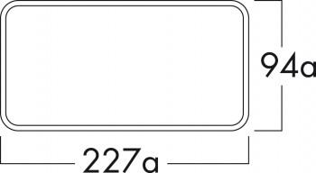 Naber Compair Flow Star GTS 150 Mauerkasten weiß/Edelstahl  eckig 4043041