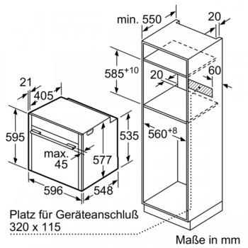 Neff Set BVS5523MK: Backofen B55VS22N0K + Vollauszug Z12TF36X0