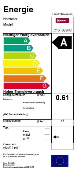 Neff Kompaktdampfbackofen Edelstahl CFS 1522 N C15FS22N0