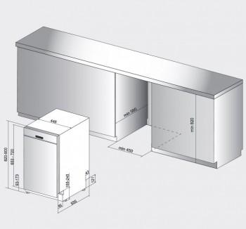Privileg Geschirrspüler teilintegrierbar 45 cm RSBC 3M19 X