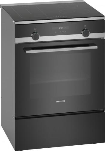 Siemens Elektroherd freistehend Edelstahl schwarz HL9S5A340