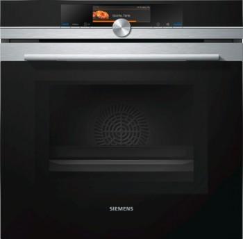 Siemens Einbaubackofen mit Mikrowelle Edelstahl HM678G4S1