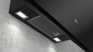 Siemens Wand-Esse 90cm Schwarz mit Glasschirm LC91KWV60