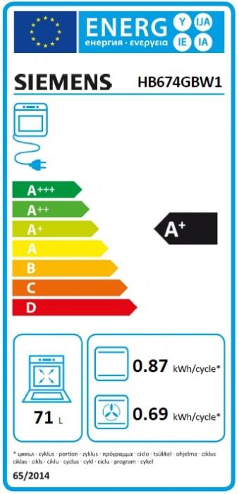 Siemens Einbaubackofen Weiß HB674GBW1
