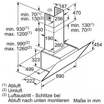 Siemens Wandesse 90 cm Klarglas schwarz iQ700 LC91KWW61S